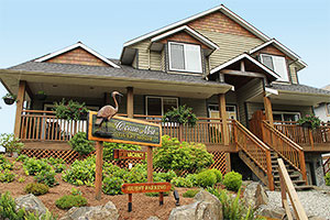 Welcome to Ucluelet. Drive to Ocean Mist Guesthouse B&B, Highway 4, Ucluelet, BC